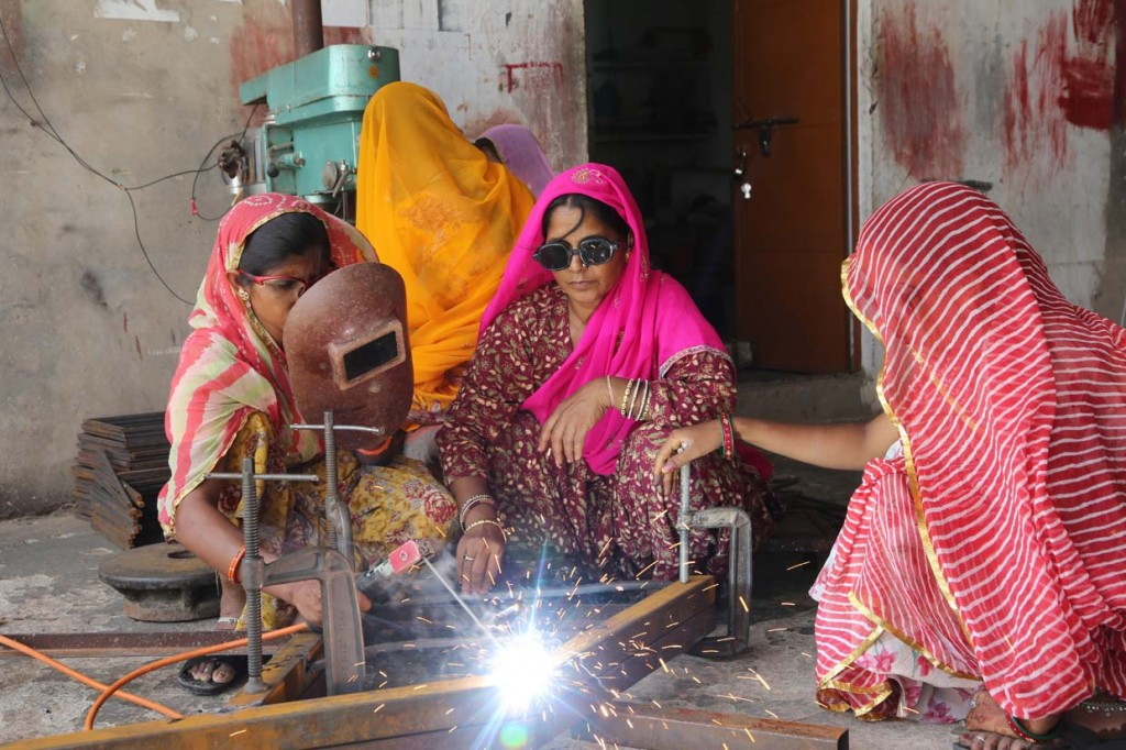 The Barefoot College in India teaches women to become energy technicians and entrepreneurs. Photo: Nigel Dickenson